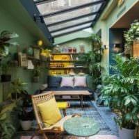 вариант использования красивых идей оформления зимнего сада в доме фото