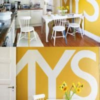 идея применения красивого желтого цвета в декоре квартиры фото