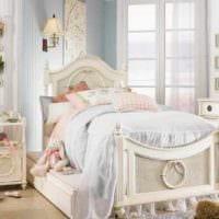 вариант красивого интерьера детской комнаты для девочки фото
