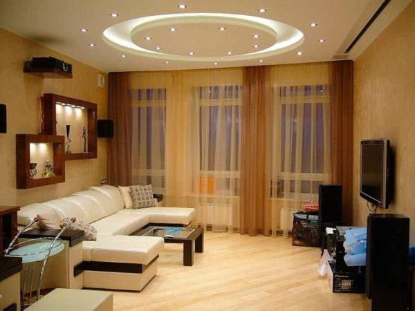 вариант красивого интерьера гостиной 15 кв.м фото