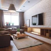 вариант красивого декора гостиной спальни фото