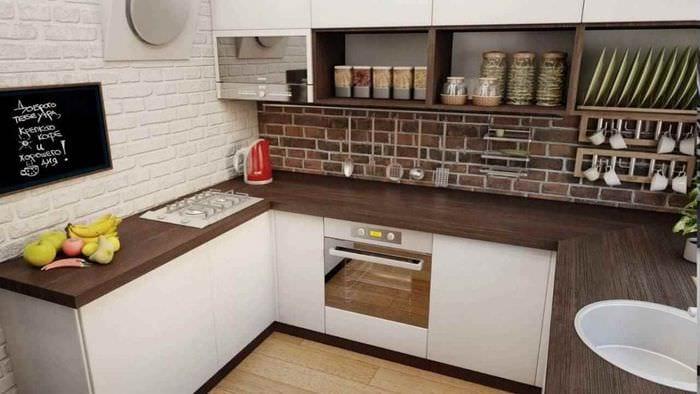 вариант яркого интерьера кухни в загородном доме