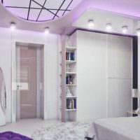 идея светлого стиля детской комнаты для девочки фото