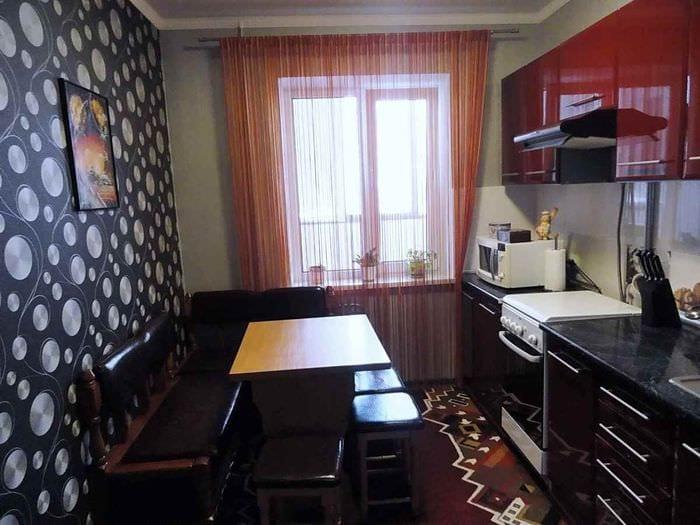 идея красивого дизайна кухни 11 кв.м