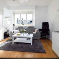 пример необычного стиля квартиры студии 26 квадратных метров картинка