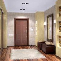 идея светлого дизайна прихожей в частном доме фото