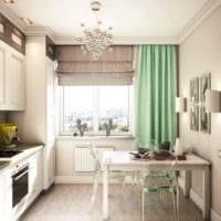 пример необычного декора кухни 10 кв.м. серии п 44 фото