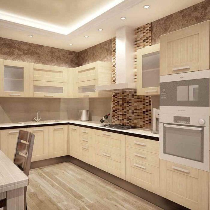 пример красивого стиля кухни 12 кв.м