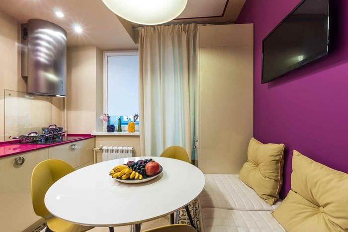 пример красивого дизайна кухни 13 кв.м