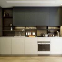 вариант светлого стиля кухни 7 кв.м фото