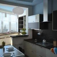 идея светлого дизайна кухни 11 кв.м фото
