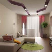 вариант красивого дизайна гостиной 15 кв.м фото