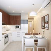 пример яркого стиля кухни 10 кв.м. серии п 44 картинка