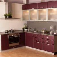 вариант яркого интерьера кухни 11 кв.м фото
