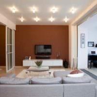 вариант необычного интерьера квартиры студии 26 квадратных метров картинка