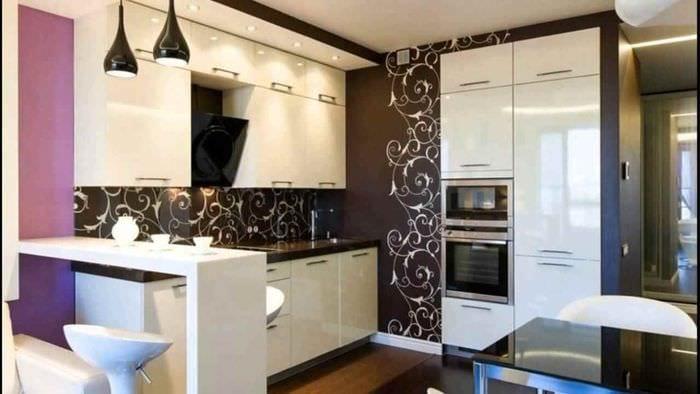 идея яркого декора кухни 13 кв.м