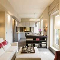пример светлого стиля квартиры студии 26 квадратных метров фото