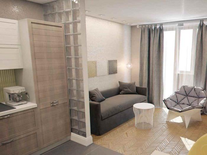 идея красивого стиля студии 20 кв.м.
