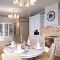 пример яркого декора кухни в классическом стиле картинка