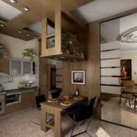 пример красивого стиля кухни в загородном доме фото