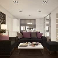 идея яркого дизайна квартиры студии 26 квадратных метров картинка