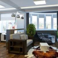 вариант светлого стиля квартиры студии 26 квадратных метров фото