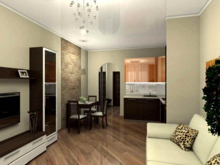 идея красивого дизайна квартиры студии 26 квадратных метров