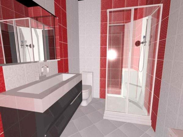 вариант необычного стиля укладки плитки в ванной комнате фото