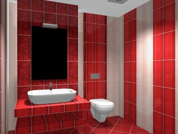 пример светлого дизайна укладки плитки в ванной комнате картинка