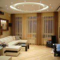 пример светлого интерьера гостиной спальни картинка