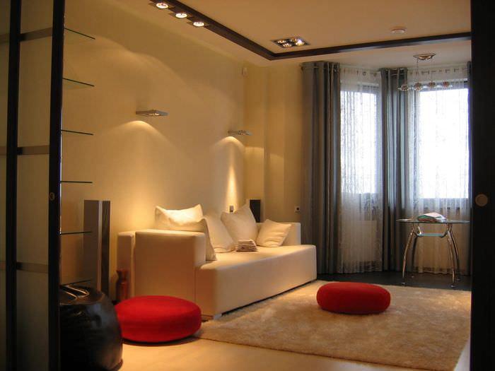 идея светлого стиля комнаты 12 кв.м
