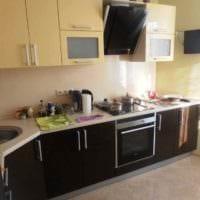 вариант необычного дизайна кухни 10 кв.м. серии п 44 картинка