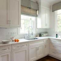 пример светлого интерьера кухни 11 кв.м картинка