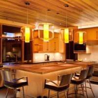 идея красивого стиля кухни в деревенском стиле картинка