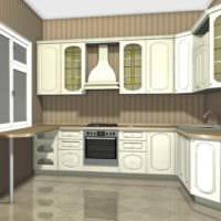 вариант светлого стиля кухни в классическом стиле фото