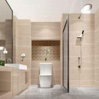 вариант красивого стиля укладки плитки в ванной комнате картинка