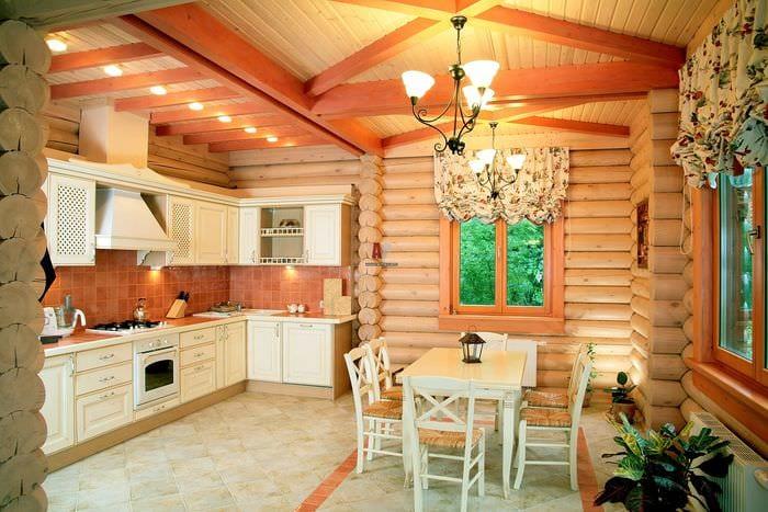 природный дизайн кухни