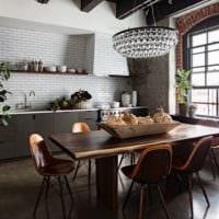 кухня 3 кв. метра в темных цветах