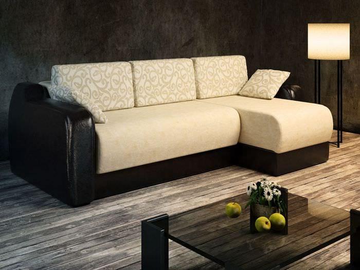 сочетание серого ламината с мебелью