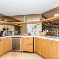 кухня совмещенная с балконом гарнитур