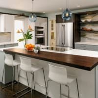 современный дизайн кухня венге