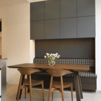 современный интерьер кухня венге