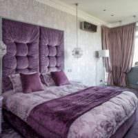 спальня с серыми обоями фото