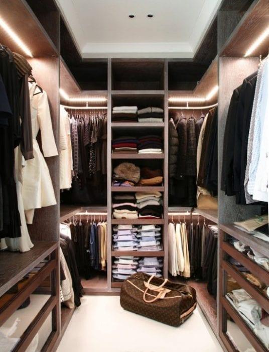 стильная гардеробная