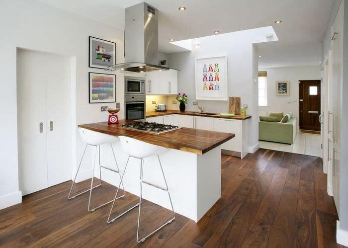 стильный дизайн кухни столовой