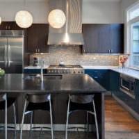 стильный дизайн кухня венге