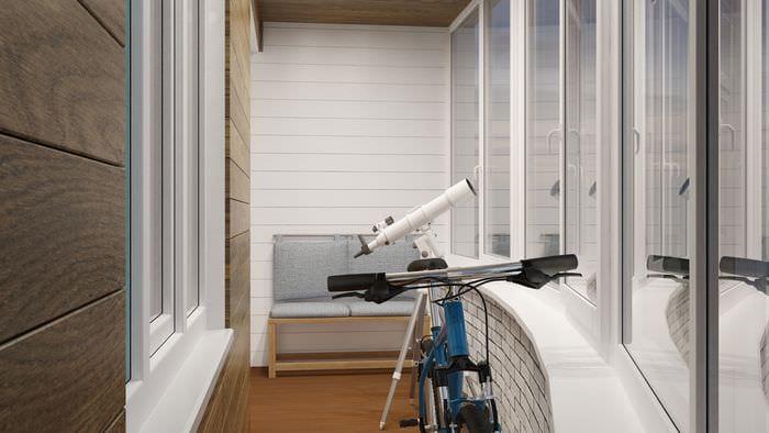 студия на балконе