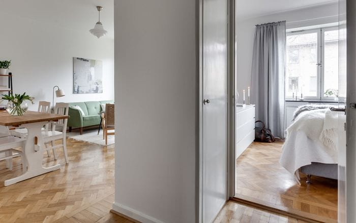 светлый дизайн маленькой квартиры