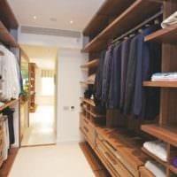 удобный дизайн гардеробной