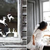 украшение окна к новому году